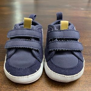 Carters Blue Velcro Baby Shoes 0-3 Months